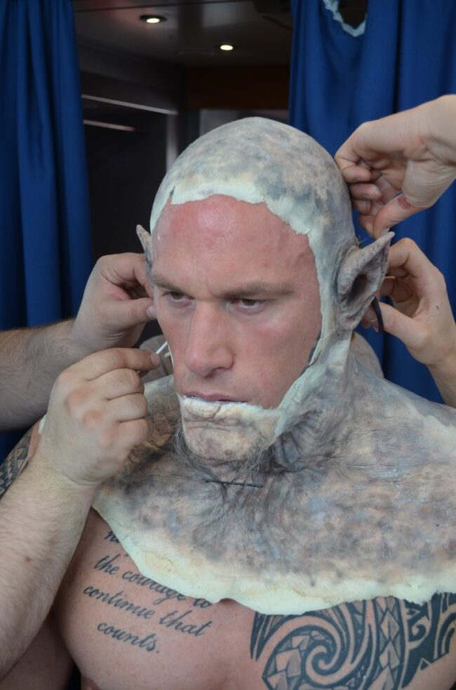 Transforming Martyn Ford into an orc