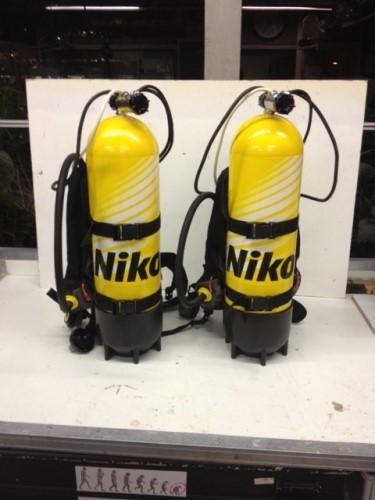 Scuba bottle props made for Nikon by Unreal.eu