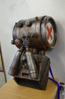 back pack prop made by Unreal for Frankensteins Army