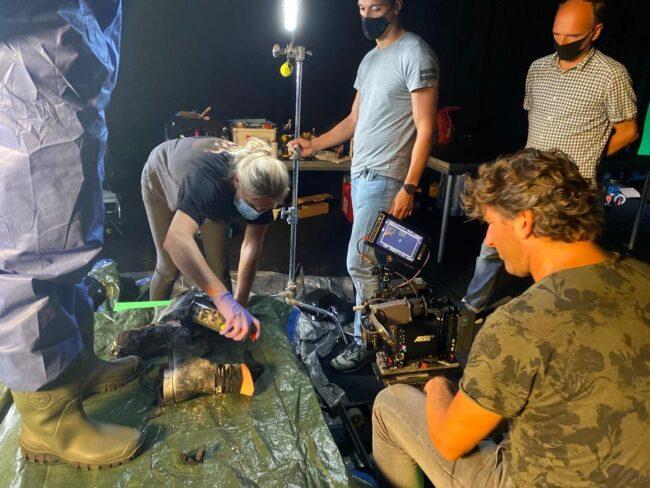 Carola Brockhoff working on set for Dutch psycho thriller serie